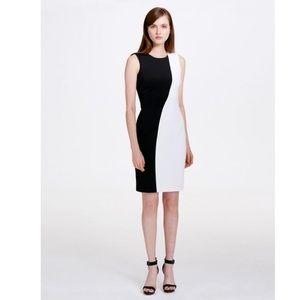 Calvin Klein black and white shift dress